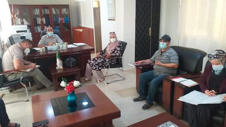 Photo of إجتماع تنسيقي تحضيرا للبرتوكول الصحي