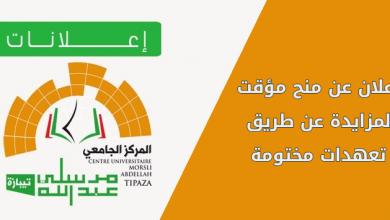 Photo of إعلان عن منح مؤقت لمزايدة رقم 2 عن طريق تعهدات مختومة